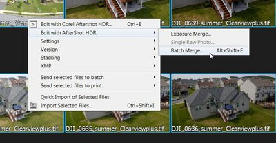 Shortcut appears in context dialog
